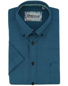 GCM Originals big men fit Hemd circle green