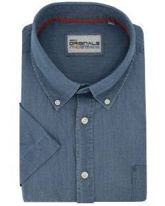 GCM Originals big men fit Hemd blau