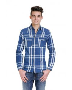 Jack und Jones Clock Western Shirt, blau