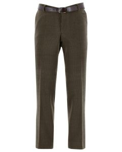 Henk ter Horst Stretch- Kordhose aus Wolle taupe