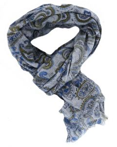 Profuomo herensjaal printed blue